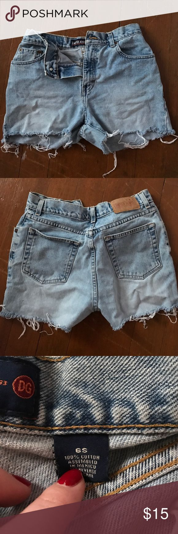 Vintage Limited high-waisted cutoff jean shorts These cutoffs are super comfortable and perfect for summer! The Limited Shorts Jean Shorts