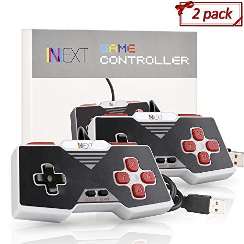 [Newest Version] iNNEXT SNES Retro USB Super Nintendo Controller, USB PC Controller, Raspberry Pi Controller for Windows PC / MAC (Red) (Pack of 2):   iNNEXT SNES Retro USB Super Nintendo Controller, Classic USB NES Controller/b Specifications: /b : )1. 100% Brand New and High Quality! : )2. Great for playing retro games on emulators,etc. : )3. Play your old school games with authentic retro feel. : )4. Work with: Windows 98/ME/Vista/2000/2003/XP/7/8/8.1/10; Mac OS X and beyond ;Ninten...