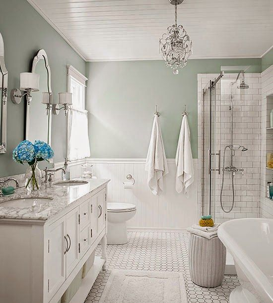 Like this size bathroom. Not too big but still a good amount of room.  Coffee and Pine: Shop The Look - Tranquil Bathroom