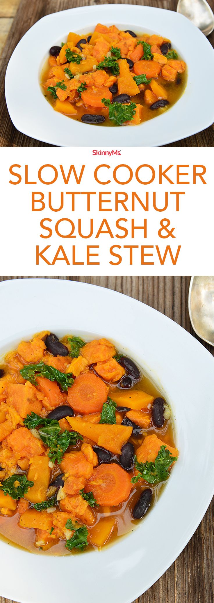Slow Cooker Butternut Squash and Kale Stew   Recipe   Warm, Kale and ...