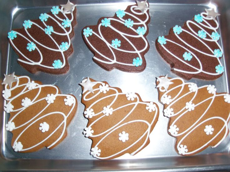 Christmas Tree Cookies - I did these in chocolate and then also in gingerbread(which was my fav)