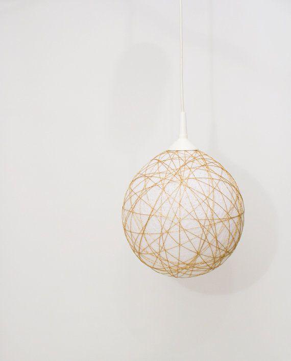 Handmade lamp, lighting, pendant light, hanging lamp, lamp shade, lamp  Golden Glam by FiligreeCreations on Etsy