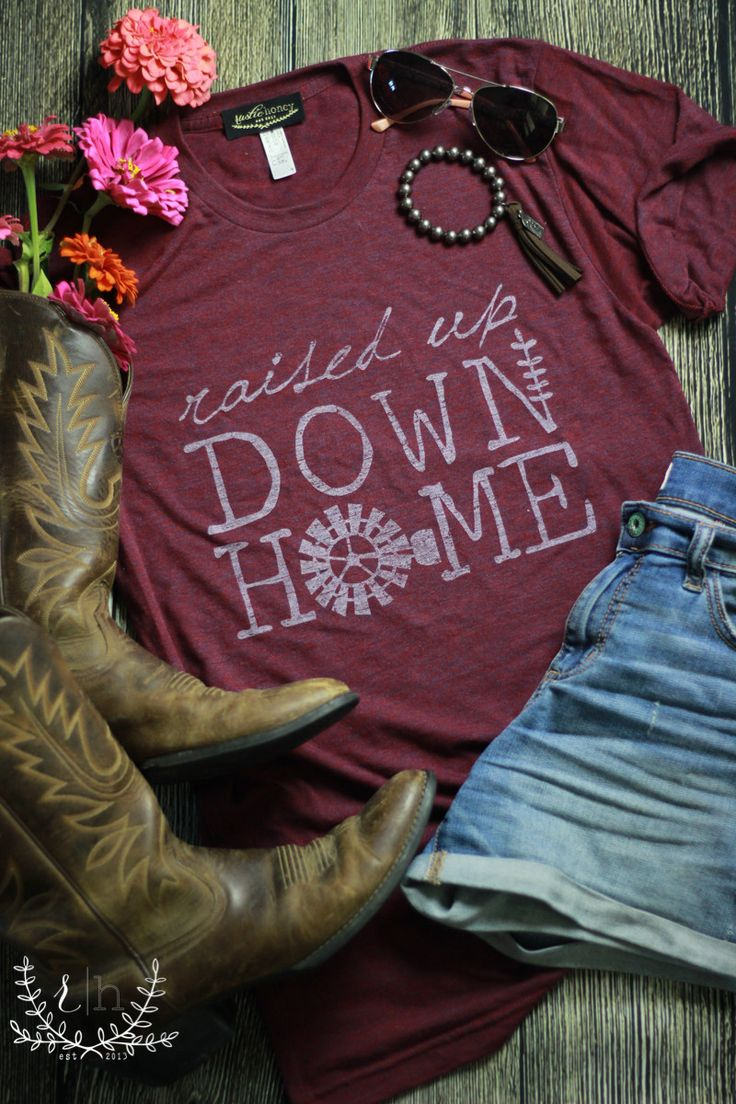 Our New T-Shirt Line! Rustic Honey is now designing and producing its own line of graphic tees! Unique styles, made in America, and completely exclusive to RH! This super soft cranberry tshirt is incr