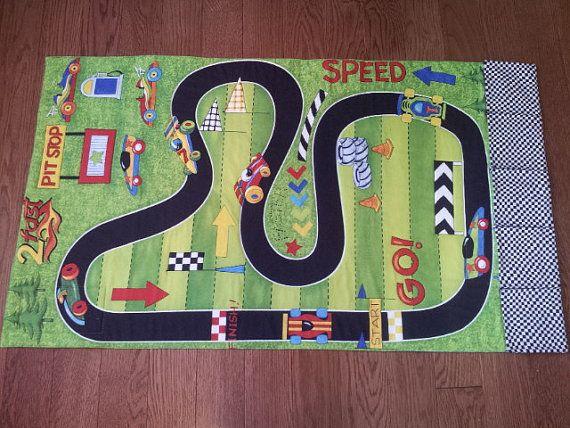 Rennen Auto Track Roll-Up Play Mat-Taschen für Toy Car Storage-Krabbeldecke-Auto Play Mat-Race Track-personalisiert-Car Mat-junge Mädchen Geschenk-Quilt-Road