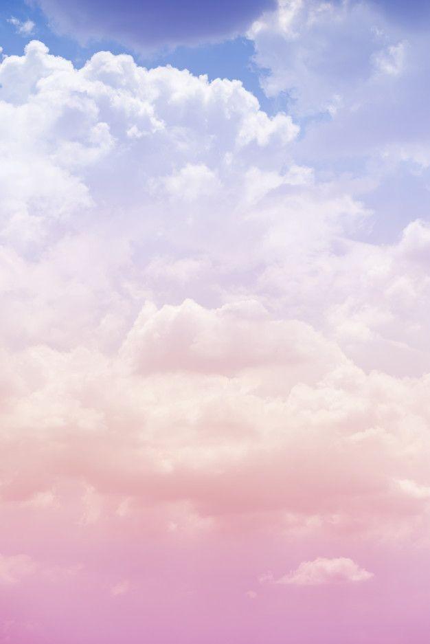 Nuage Ciel Avec Une Couleur Rose En 2020 Fond D Ecran Pastel Fond D Ecran Telephone Photo Nuage