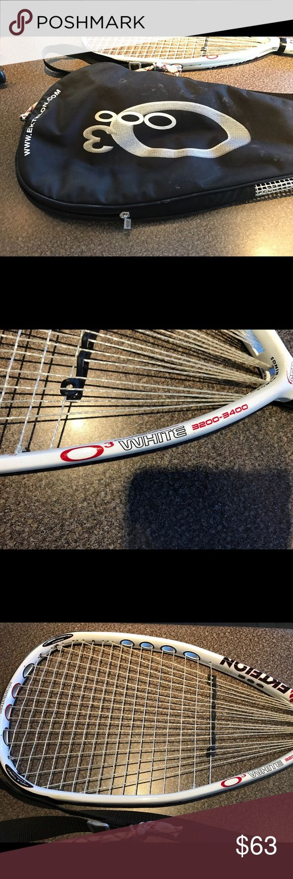 Ektelon Two Rackets White 03 Ektelon Racket with case, 3200-3400 power rating, perfect condition. It comes with two rackets. Ektelon Other