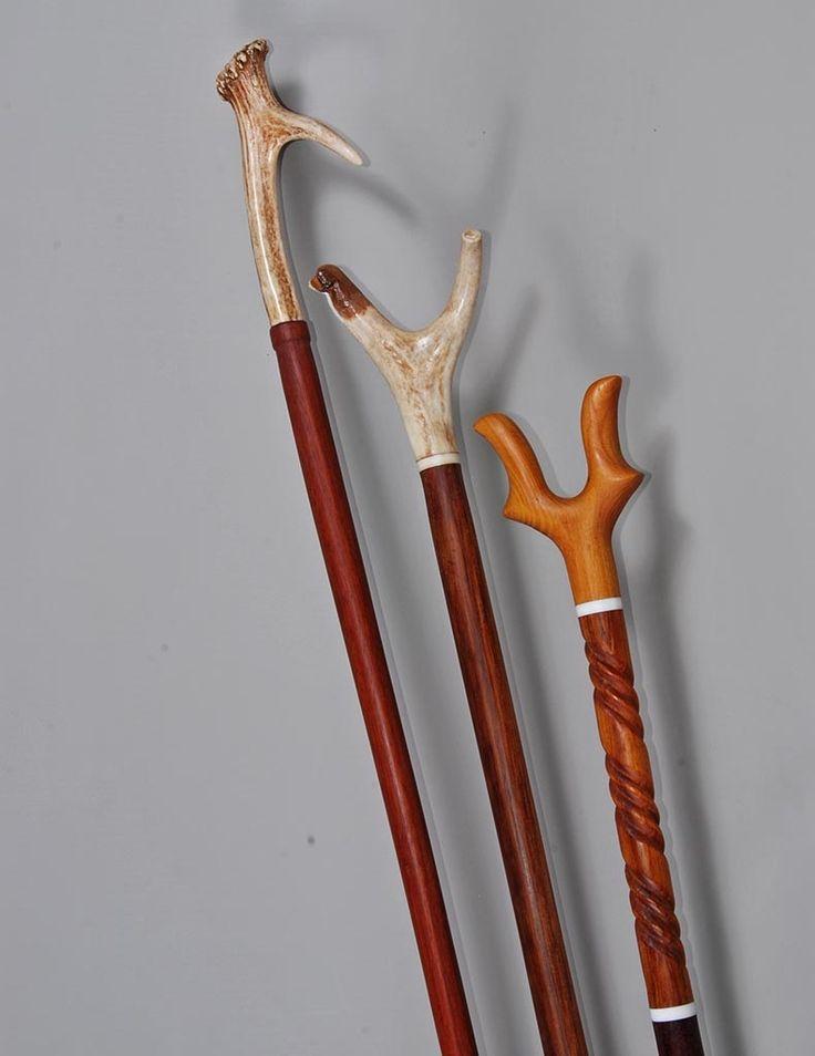 walking sticks with antler