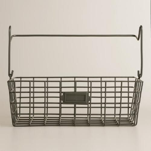 Wire Modular Kitchen Wall Storage Basket Caddy World