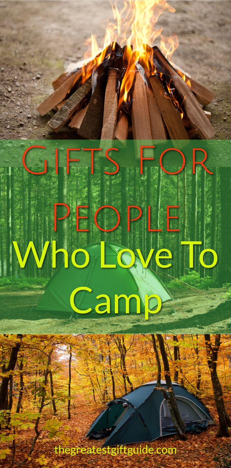 Camping gift ideas for people who love to camp. Great camping gifts for men, women, and couples. Awesome gift ideas for those who love to camp and go hiking. Unique gift ideas for campers who seem to have everything.