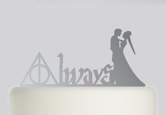 Hey, I found this really awesome Etsy listing at https://www.etsy.com/uk/listing/455921384/harry-potter-wedding-cake-topper-always
