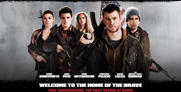 See RED DAWN, starring Chris Hemsworth, Josh Peck and Josh Hutcherson