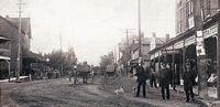 Street Scene, Allandale (B&W - Part of modern day Barrie)