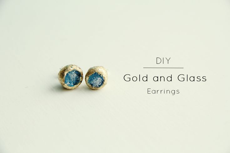 DIY// Gold and Glass Earrings   Fall For DIY