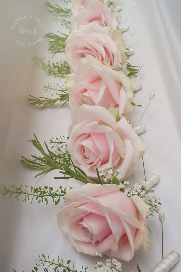 The most beautiful of Pink Roses..Sweet Avalanche..were used to create these gorgeous Buttonholes www.weddingandevents.co.uk
