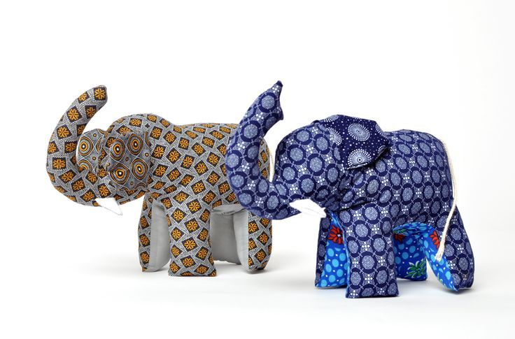 Shweshwe printed elephants