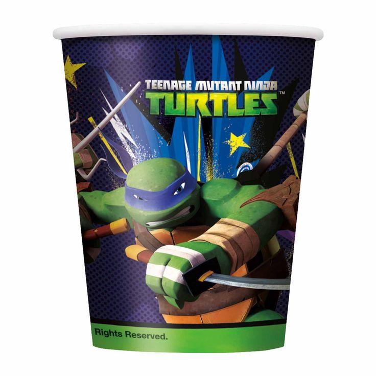 Teenage Mutant Ninja Turtles 9 oz. Paper Cups - 8 Count   Tv's Toy Box