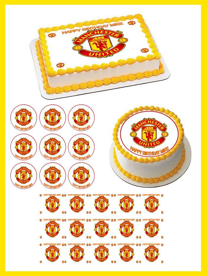 Manchester United Edible Birthday Cake Topper