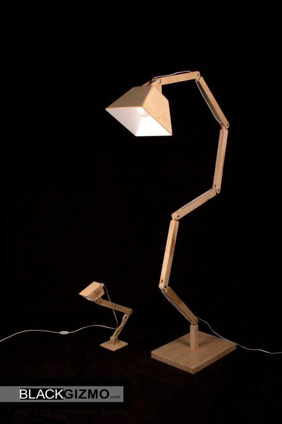 Wooden Floor Lamp DL022 BlackGizmo