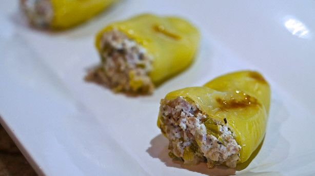 Sausage Stuffed Banana Peppers Recipe - Food.com