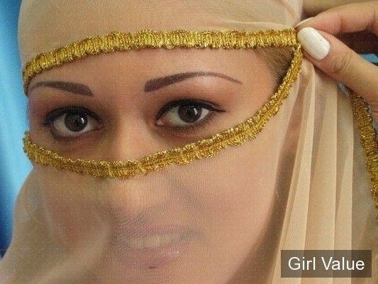 "{""token"":""6""} - Beautiful Arab Women in Golden Transparent Niqab"