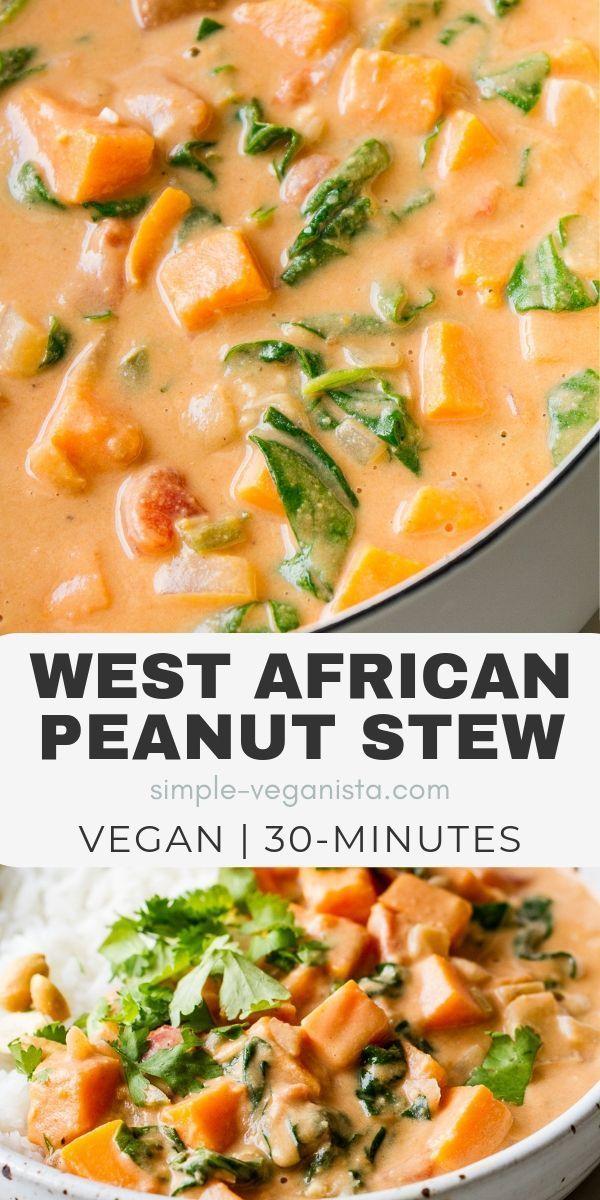 Westafrikanischer Erdnusseintopf – Hergestellt in einem Topf ist dieses einfache …
