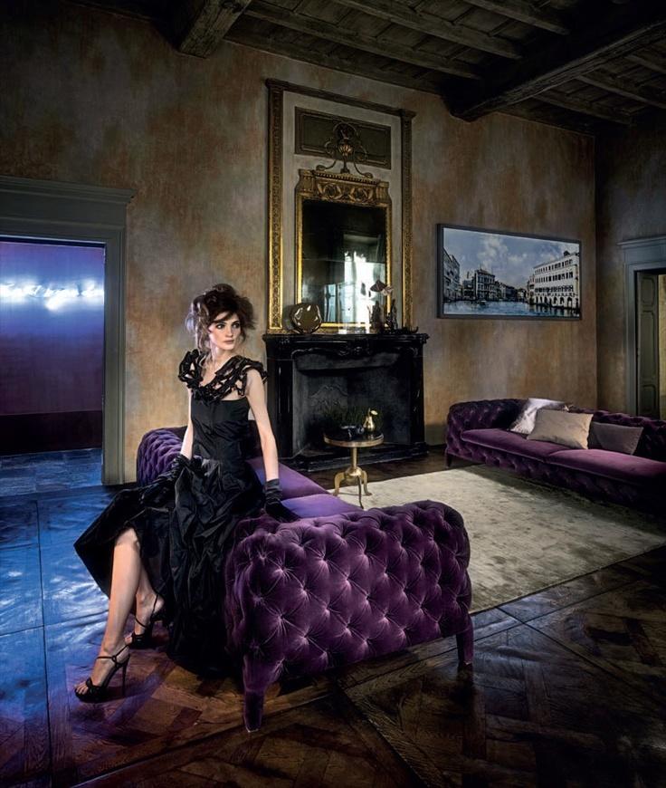 Windsor Large Sofa in plush purple velvet. For Boudoir Studio...someday