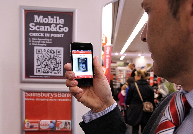 Mobile Scan & Go - check in by scanning the QR code by J Sainsbury, via Flickr