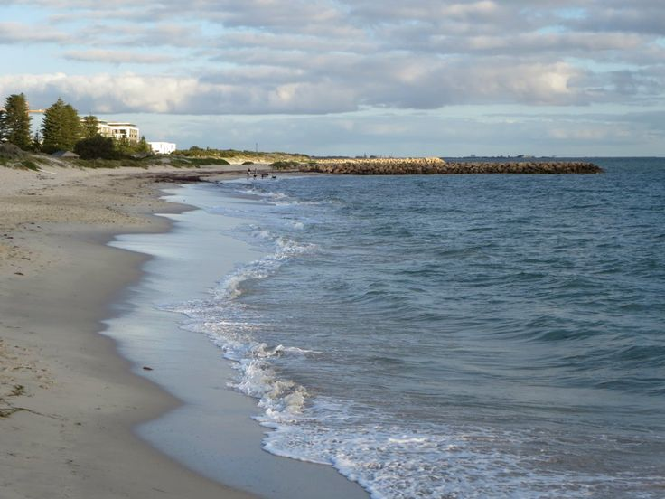 South Beach at Fremantle, Western Australia, is a popular place to swim in summer.