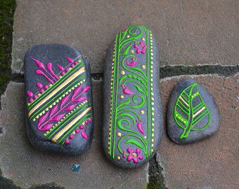 Hand Painted Stones from the Shores of Lake Champlain