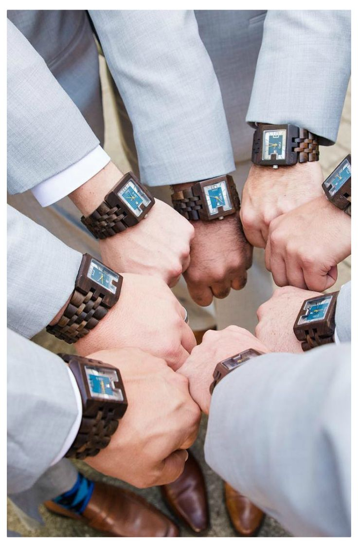 Thank your groomsmen for all the times they've supported you. Past present, and future! Special discounts for groomsmen gift ordering. Contact us today at woodwatches.com - free shipping in the US, 1 year warranty on all purchases!