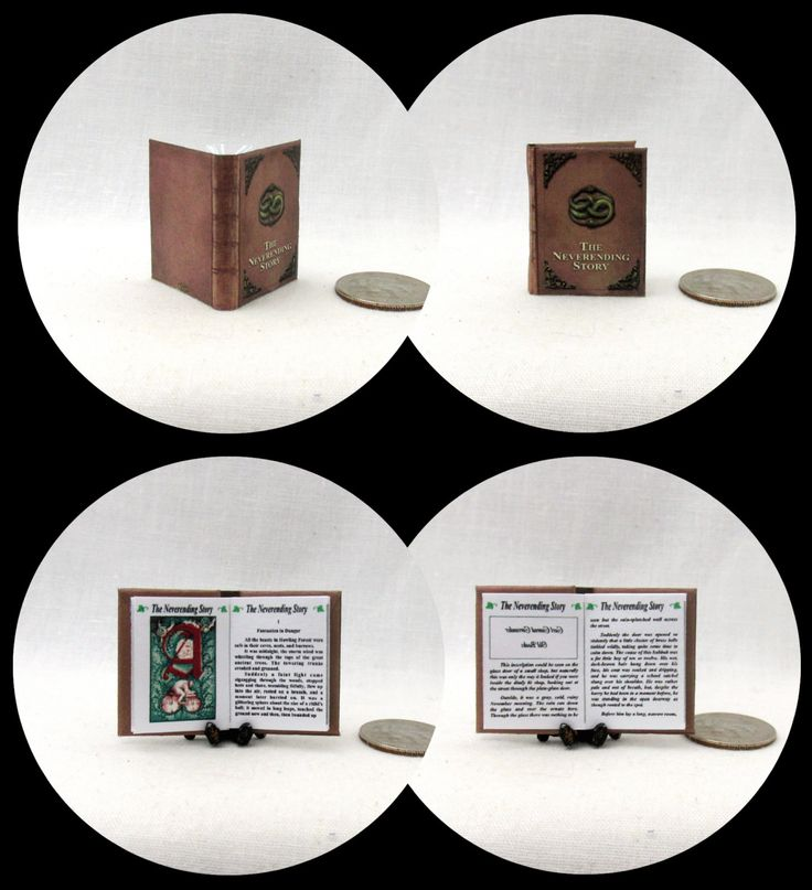 The NEVERENDING STORY Miniature Book Dollhouse 1:12 Scale Readable Illustrated Book by LittleTHINGSinterest on Etsy