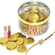 Send Rakhi gifts to Bangalore - Rakhi to Bangalore, Online Rakhi delivery Bangalore with Gold