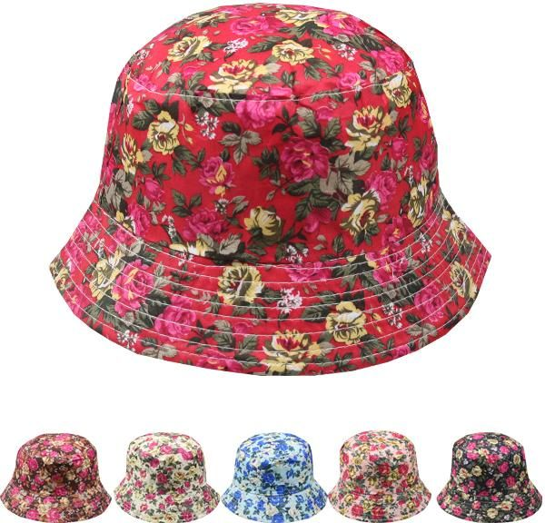 Wholesale Women's Floral Bucket Hat (Case of 72)