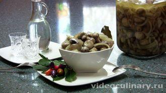 Грибы маринованные - фото-рецепт и видео рецепт
