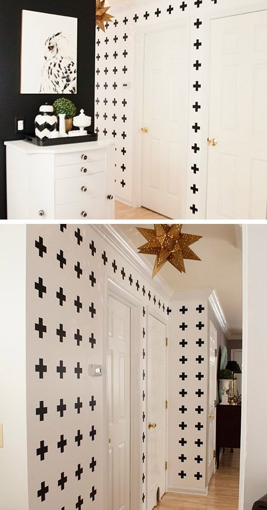 Black and White Cross Hallway Wall | Click Pic for 36 DIY Wall Art Ideas for Living Room | DIY Wall Decorating Ideas for the Home