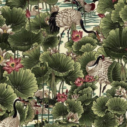 Robert Kaufman Fabrics: ES-3670-1 IVORY from Oriental Traditions Original Collection