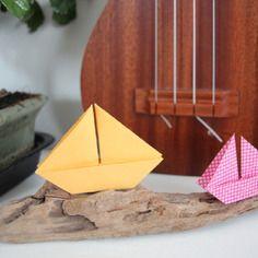 Bateaux bois flotté decoration origami maison cadeau fait main fête mère chambre enfant