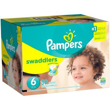 Pampers Swaddlers Diapers Size 6 50 count, White