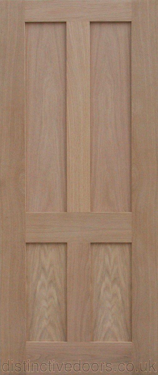 Chester 4 Flat Panel Oak Interior Door