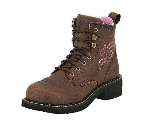 Justin Women's Gypsy Aged Bark Work Boot Steel Toe Aged Bark 8 M US