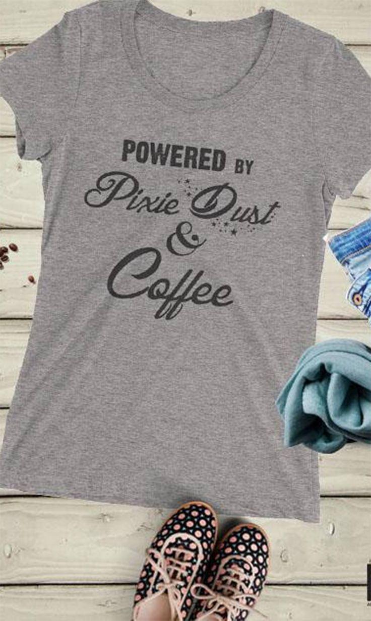 Coffee shirt, Disney Women's, Tinkerbell Shirt, Disney Vacation, Disney World, Latte, Pumpkin Spice, Caffeine, Starbucks,Pixie Dust #ad #disney #disneyland #waltdisneyworld #disneystyle #starbucks