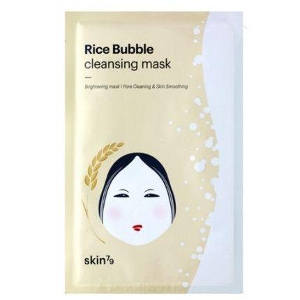 SKIN79 Rice Bubble Cleansing Mask Ryżowa maska w płacie | TWARZ \ pielęgnacja twarzy \ maski TWARZ I CIAŁO \ PIELĘGNACJA TWARZY \ MASKI DOMOWE SPA \ AZJATYCKA PIELĘGNACJA \ MASKI W PŁACIE | Minti Shop