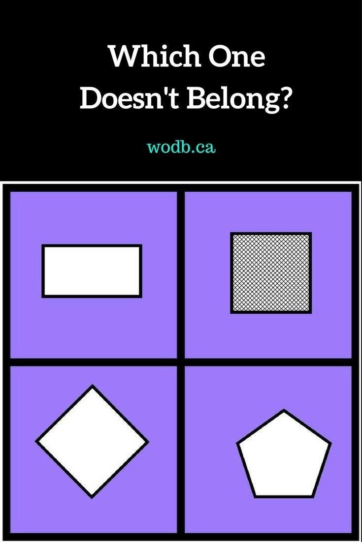 Which one doesn't belong? Use these fun and thought-provoking math puzzles with your students this year.