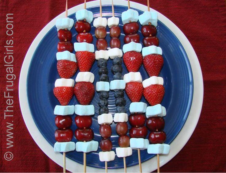 fourth of july4Thofjuly, Patriots Desserts, Kabobs Recipe, Fourth Of July, Food, Fruit Kabobs, Kabob Recipes, 4Th Of July, July Fruit