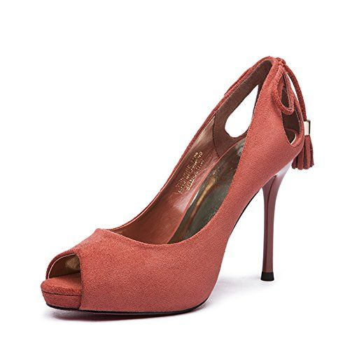 Fish head shoes/Scrub heels/Women pointed shoes-B Foot length=22.3CM(8.8Inch)