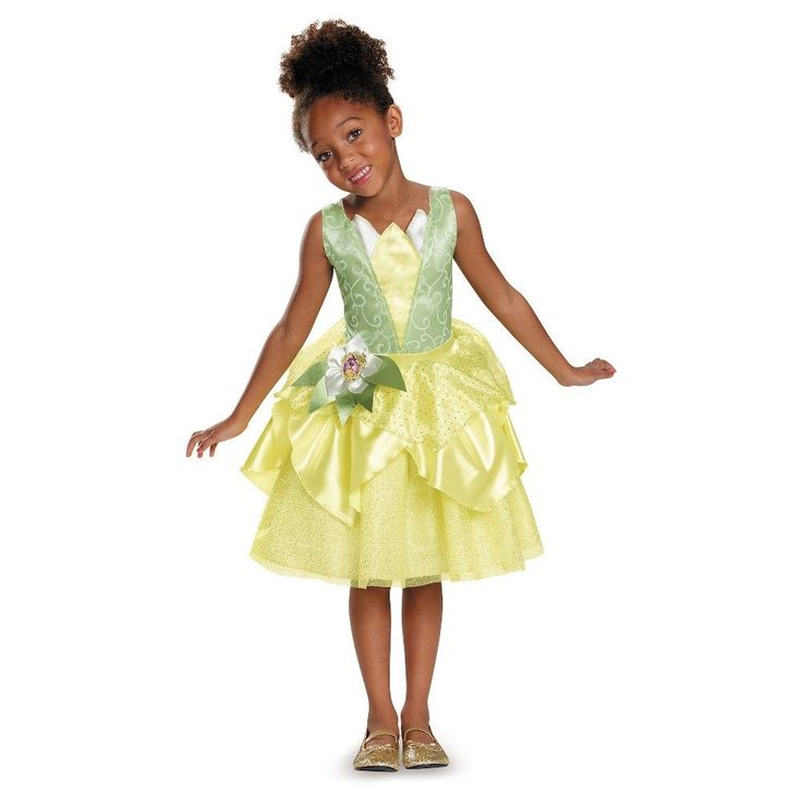 Disney Princess Tiana Girls' Classic Costume M (7-8), Multicolored