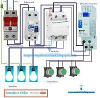 Esquemas eléctricos: Esquema eléctrico conexión a 4 hilos