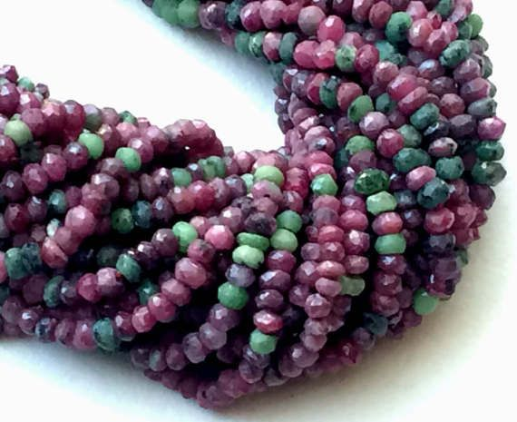 WHOLESALE 5 Strands Ruby Zoisite Beads Natural by gemsforjewels