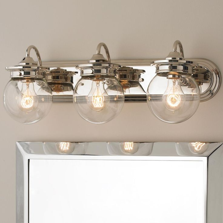 Traditional Clear Gl Globe Bath Light 3