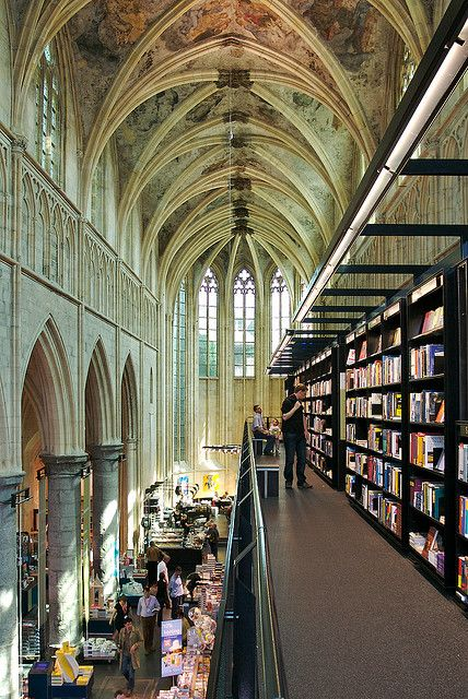 Selexyz Dominicanen Bookstore, former church converted into a bookstore in Maastricht, Netherlands